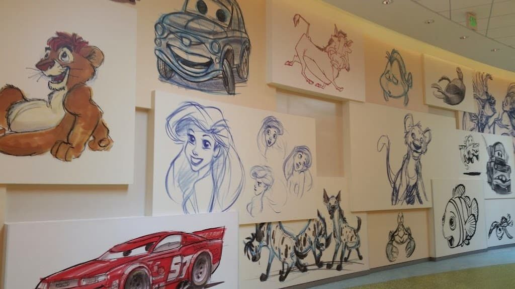 art of animation wall