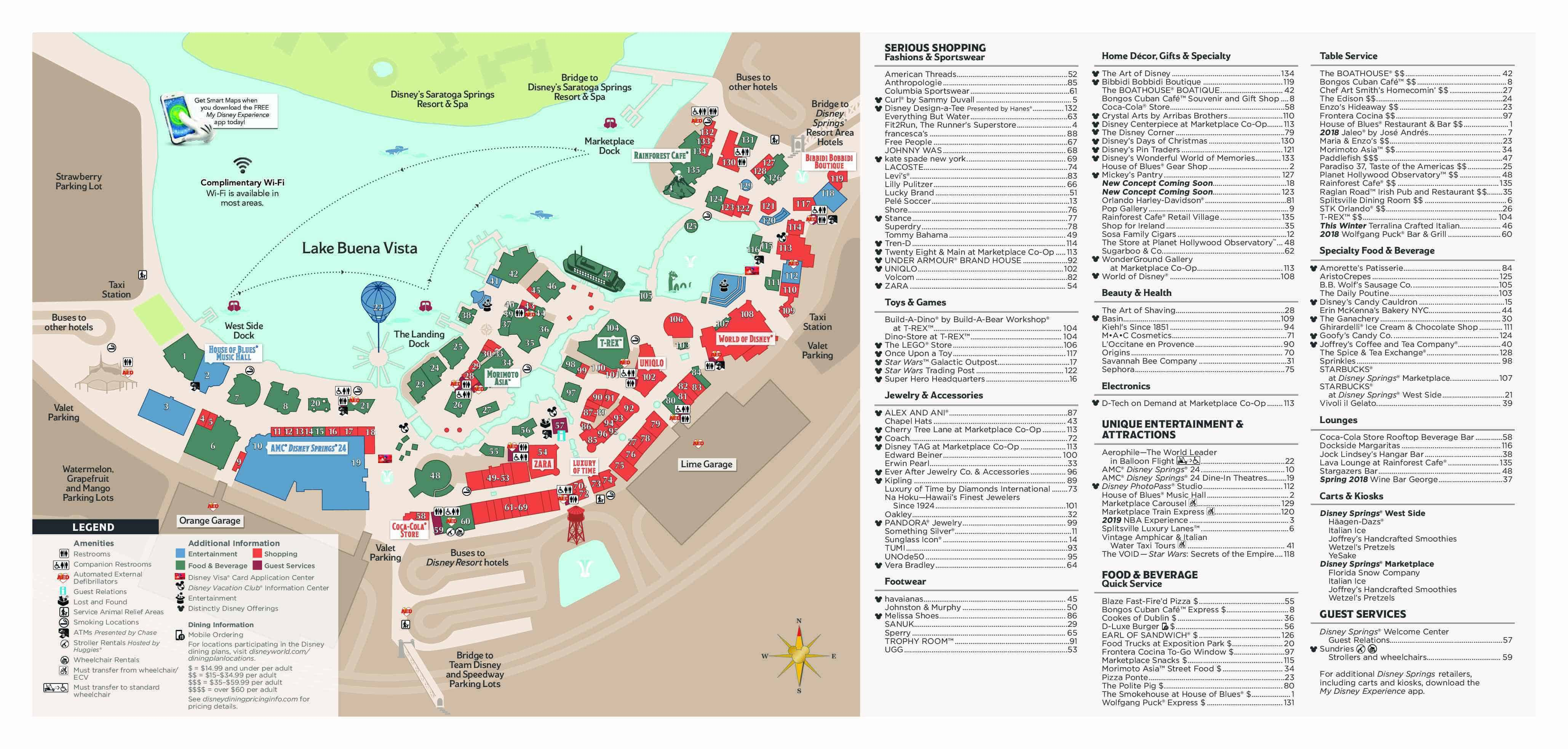 map of disney springs