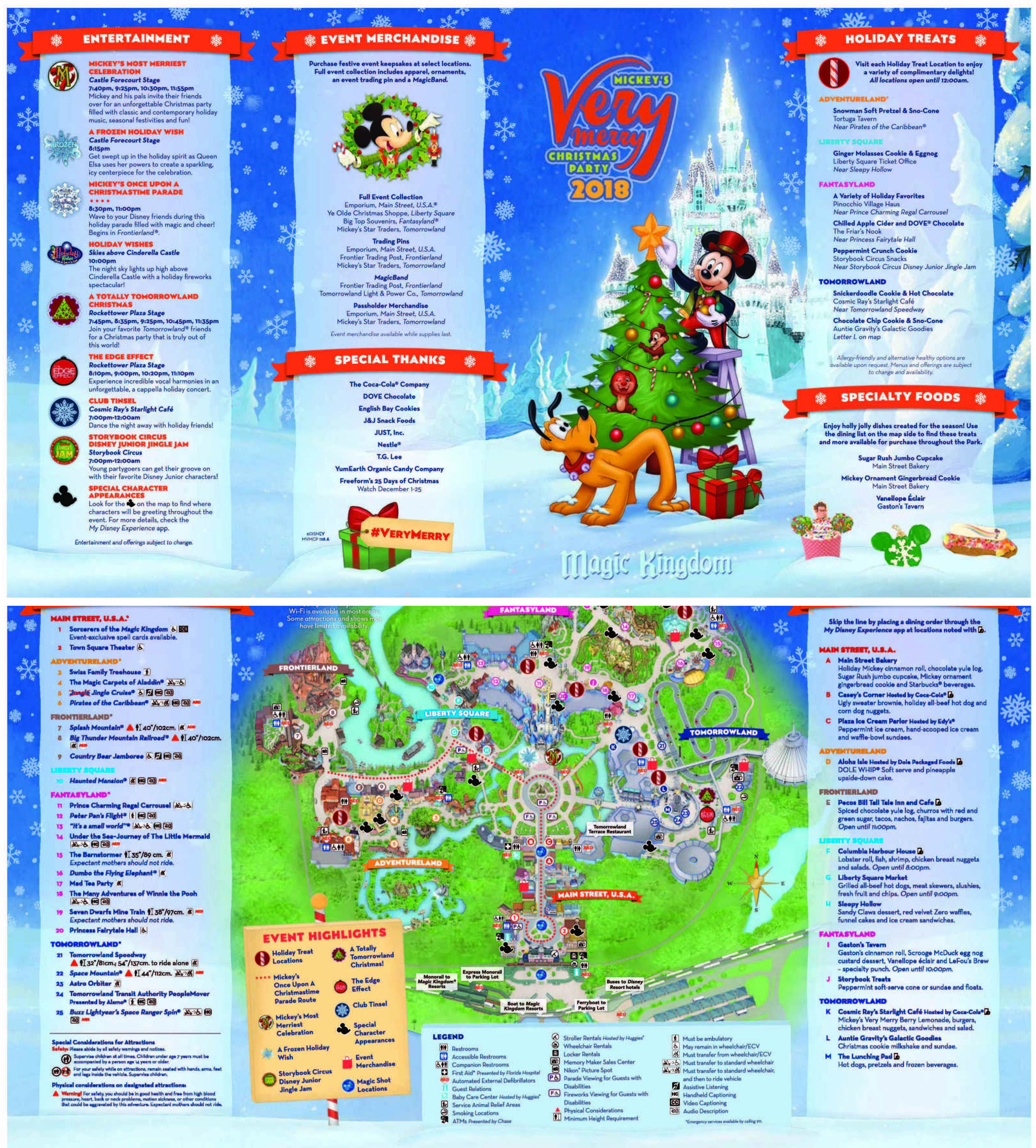 Mickey's Very Merry Christmas Party Guide (2019) • WDW Travels