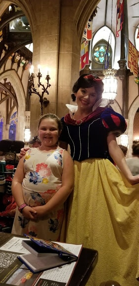 snow white Cinderellas royal table lunch