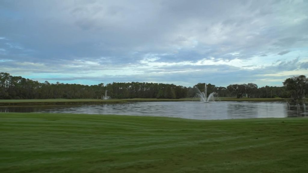 Fountain at Disney's Palm Golf Course at Walt Disney World