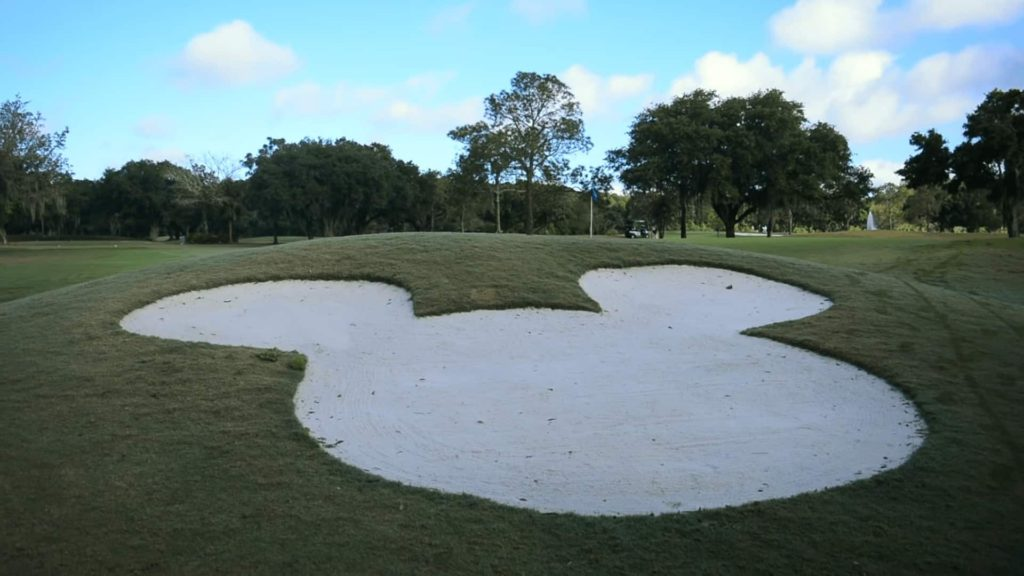 golf hidden mickey sand bunker