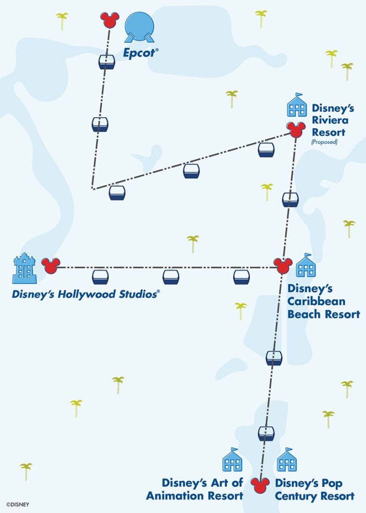 Disney Skyliner Gondola System : Map, Capacity and More Tips 3