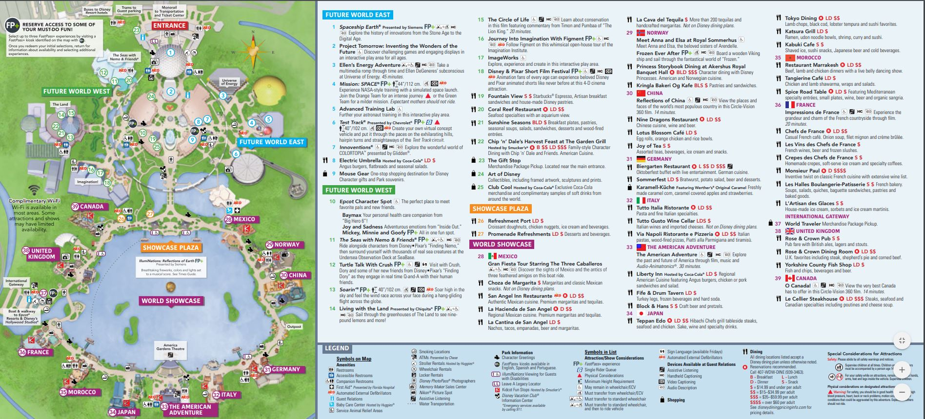 epcot theme parks map
