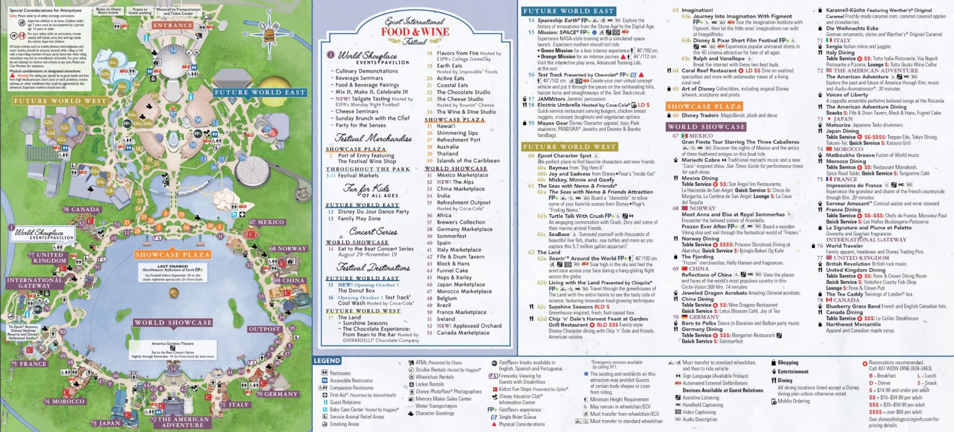 food and wine epcot map