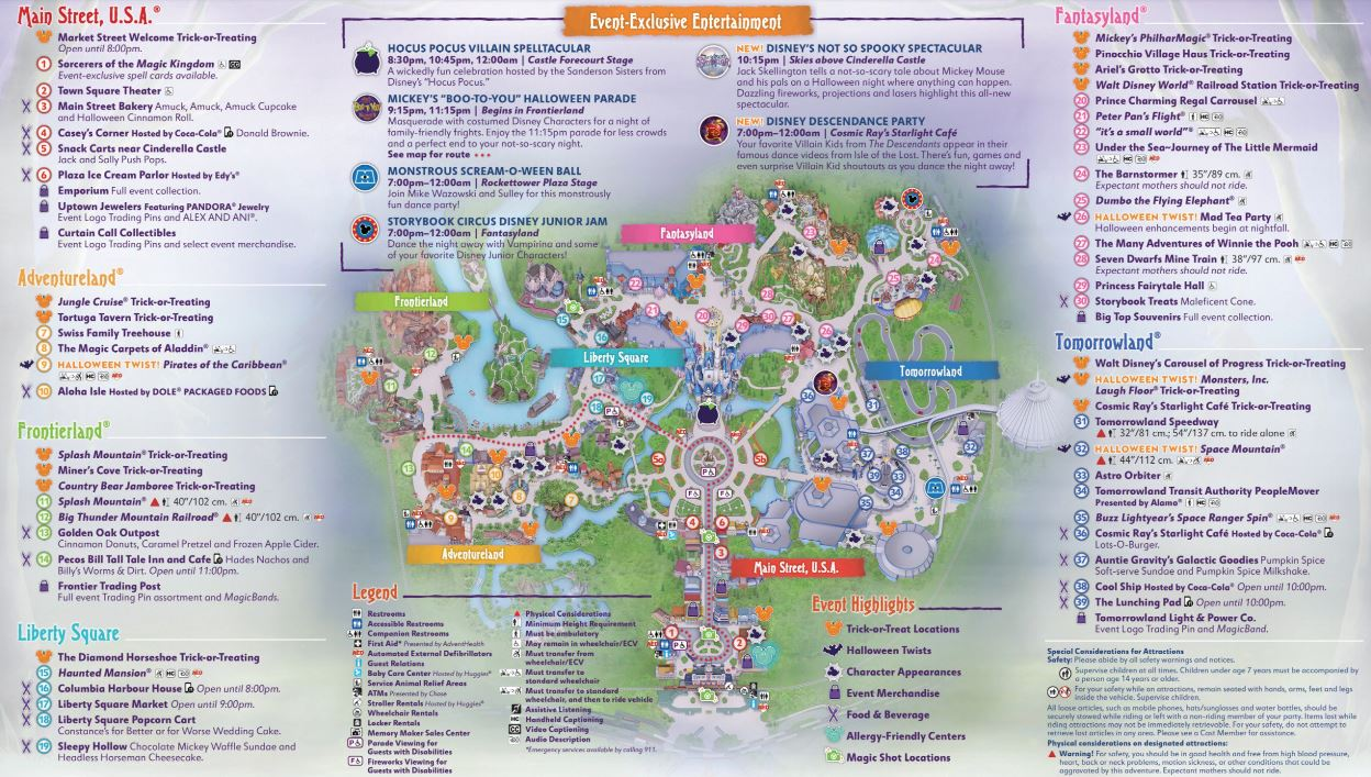 Mickeys Very Merry Christmas Party 2018 Map.Disney World Maps Wdw Travels