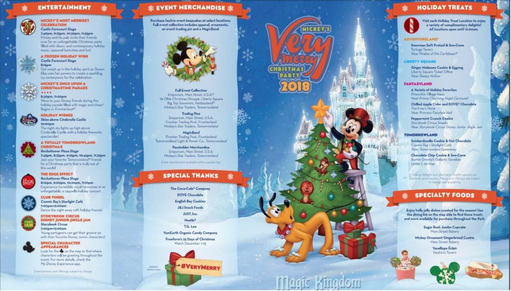 Mickey's Very Merry Christmas Party Guide Magic Kingdom 1
