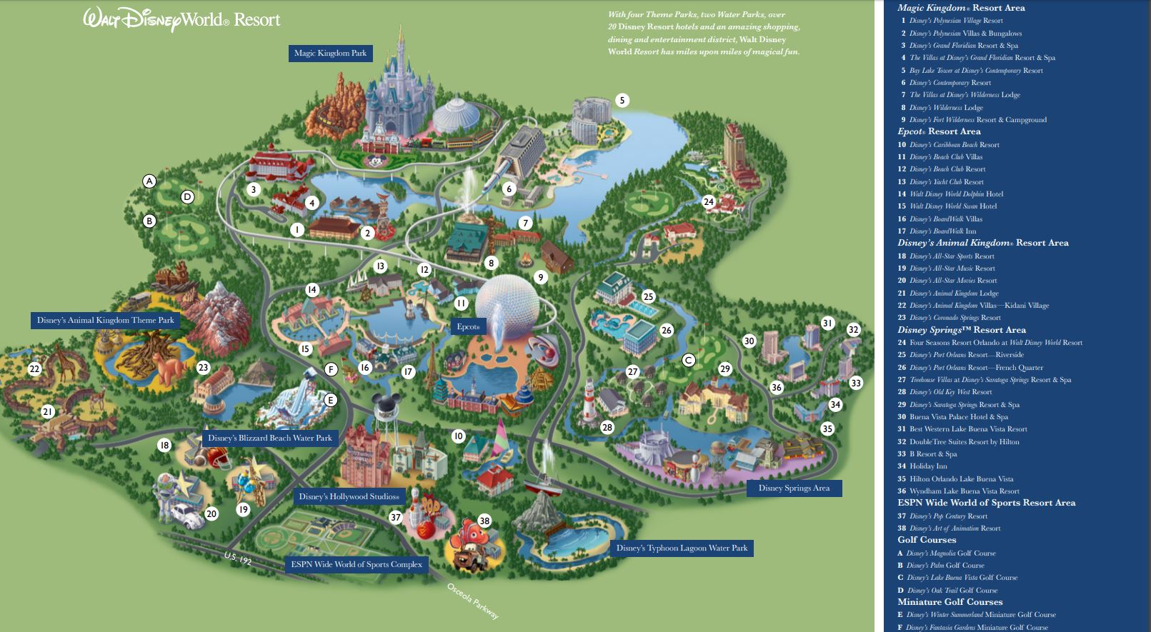 Disney World Maps 1