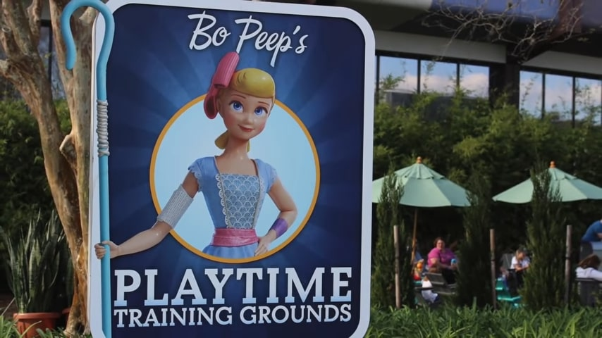 bopeep playground training grounds Epcot Flower & Garden Festival