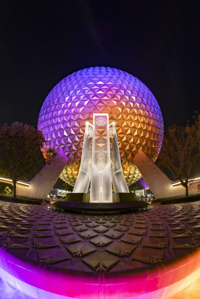 First Look: New Entrance Fountain Celebrates the Past, Present and Future of EPCOT Epcot 3