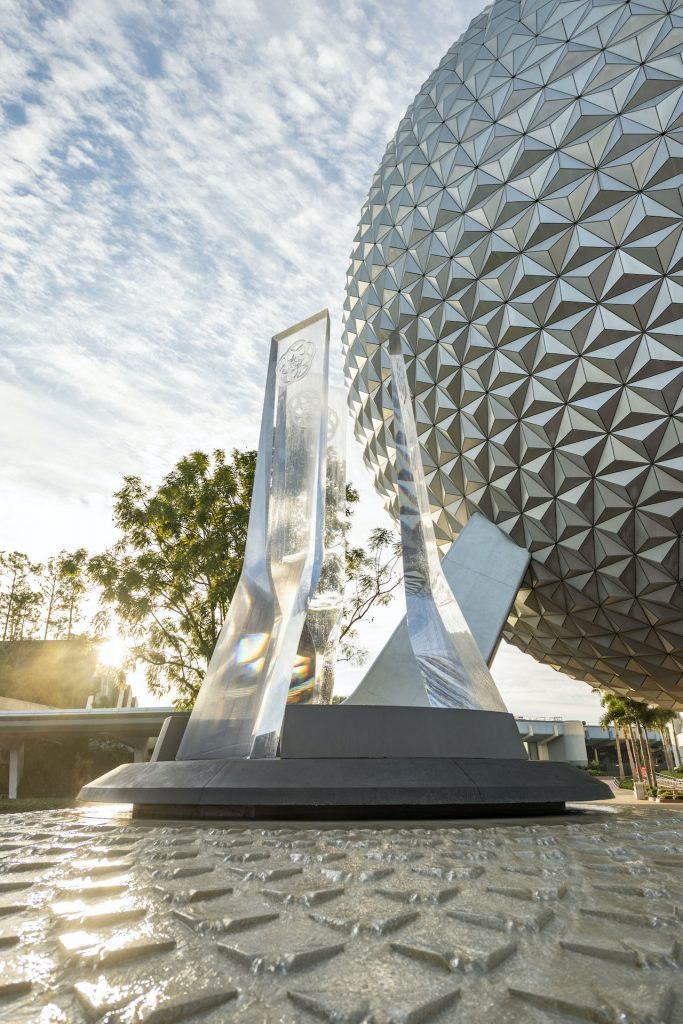First Look: New Entrance Fountain Celebrates the Past, Present and Future of EPCOT Epcot 4