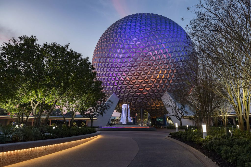 First Look: New Entrance Fountain Celebrates the Past, Present and Future of EPCOT Epcot 5