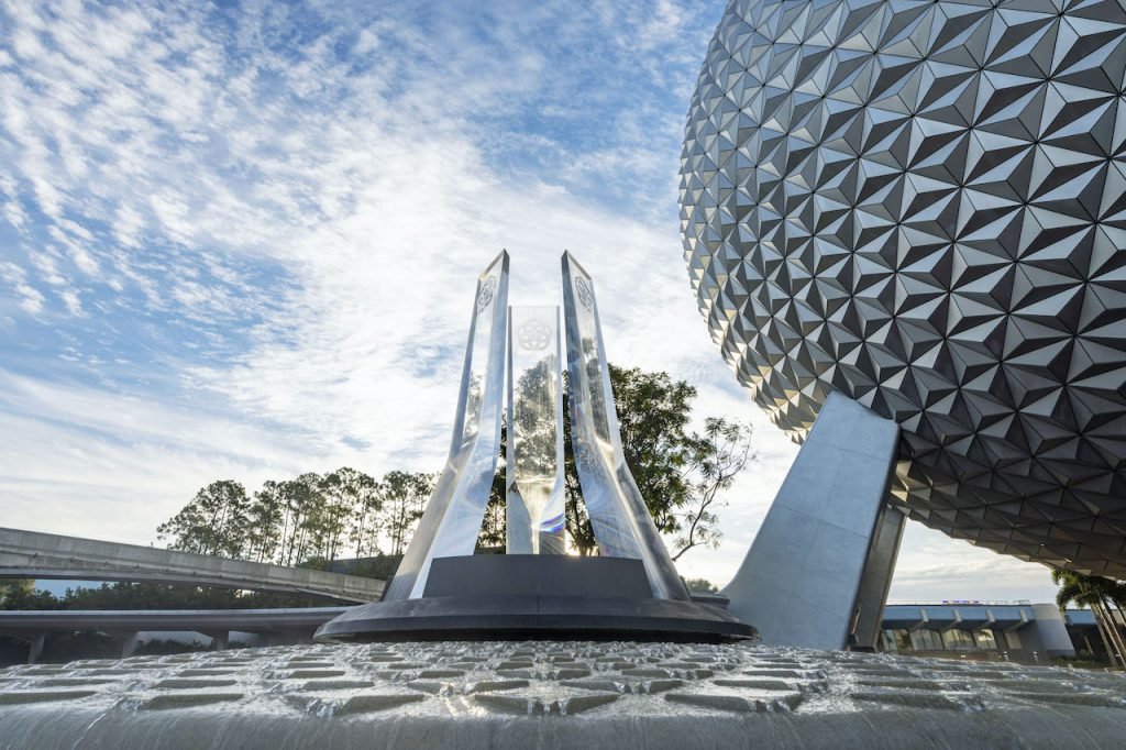 First Look: New Entrance Fountain Celebrates the Past, Present and Future of EPCOT Epcot 6