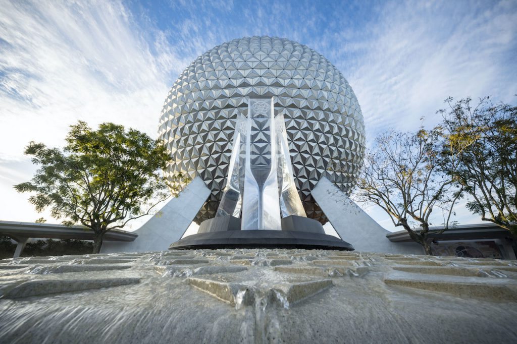 First Look: New Entrance Fountain Celebrates the Past, Present and Future of EPCOT Epcot 7