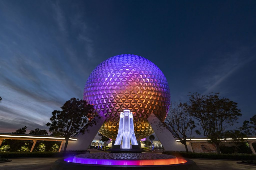First Look: New Entrance Fountain Celebrates the Past, Present and Future of EPCOT Epcot 1