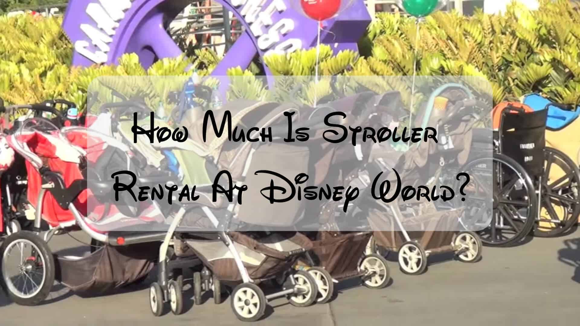 How Much Is Stroller Rental At Disney World? Tips 1